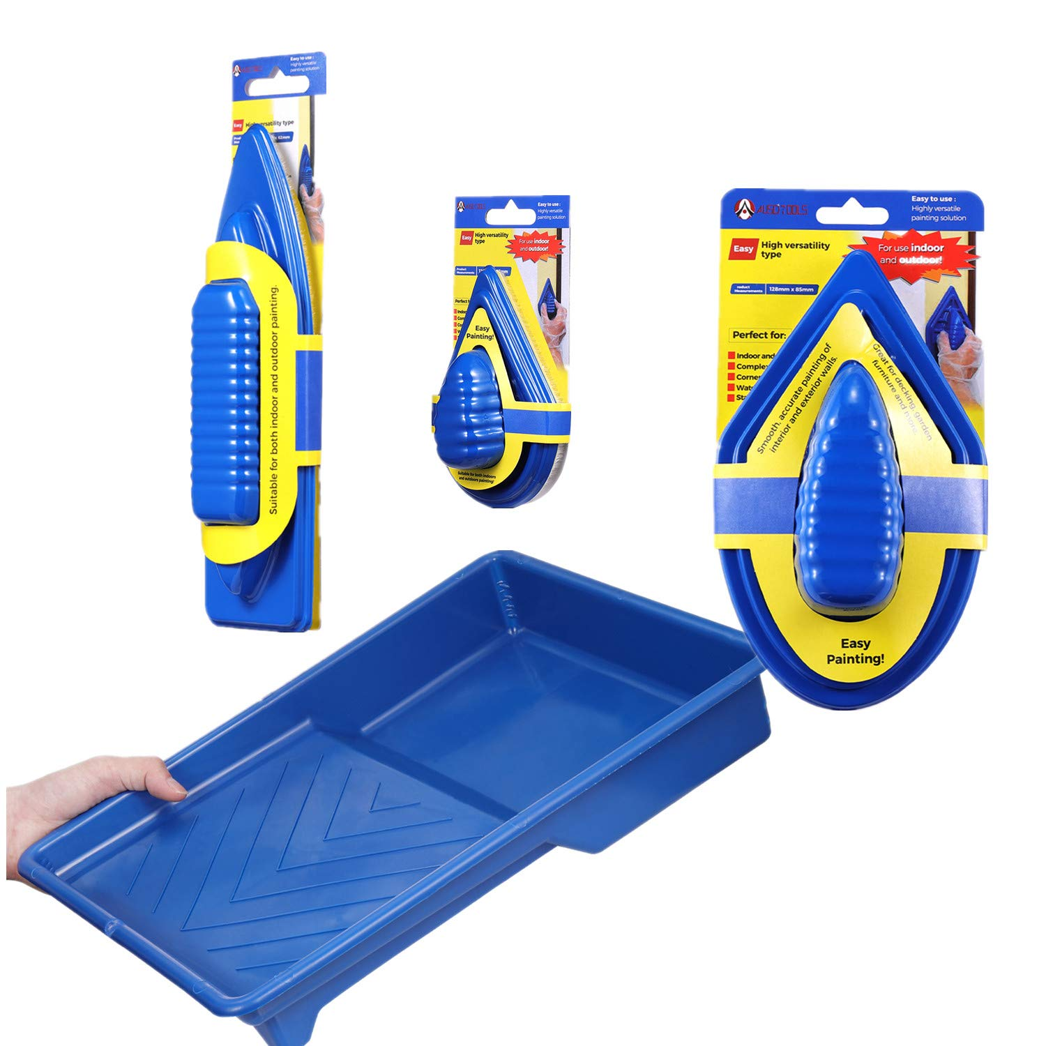 YUKAKI The Best Paint Pad Set with 9 Inch Painting Tray No Smudges No Drips Paint Edger Painting More Accurate Than Paint Roller and Paint Brush House Paint Kit by YUKAKI