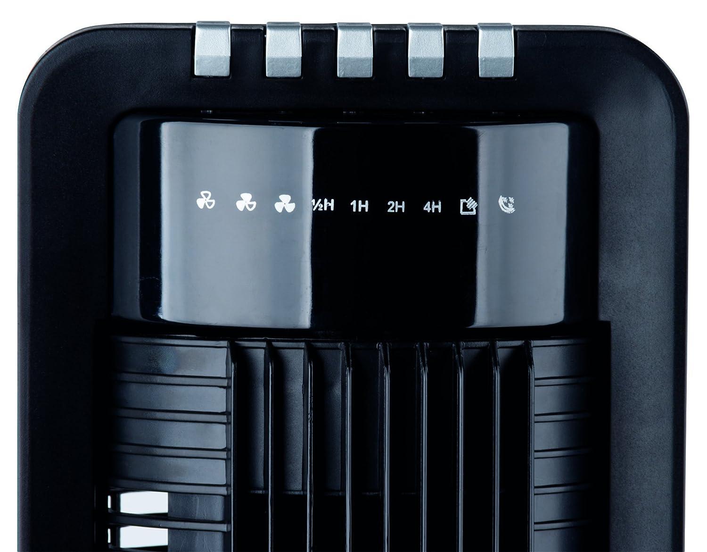 Interior XXL S/äulenventilator // Turmventilator 108cm 3 Stufen 180/° Oszillierender Ventilator schwarz mit Fernbedienung und Timer