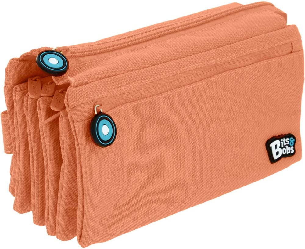 Grafoplás 37543383. Portatodo 4 Compartimentos, Coral, 23x12cm, Bits & Bobs: Amazon.es: Oficina y papelería