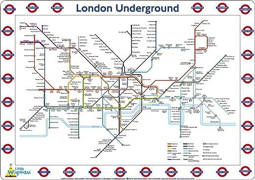 Little Wigwam mantel individual del mapa del metro de Londres ...