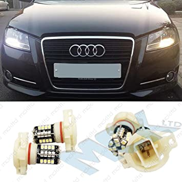 Bombillas LED diurnas, de posición, bus CAN, libre de errores, 68SMD, PS 19 W, H16 EB2L3: Amazon.es: Coche y moto