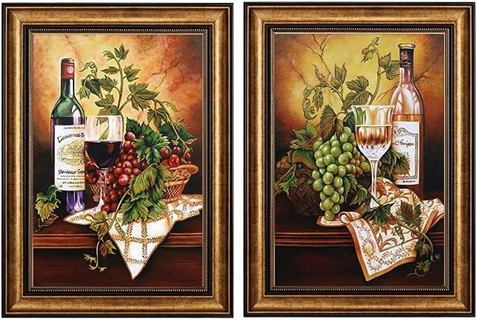 ZHANG HUA-table lamp Z-H Decorativa de Europa Pintar Las Paredes de la Sala están Decoradas con Pinturas de Frutas Decoraciones Simples (Size : 66x86cm): Amazon.es: Hogar