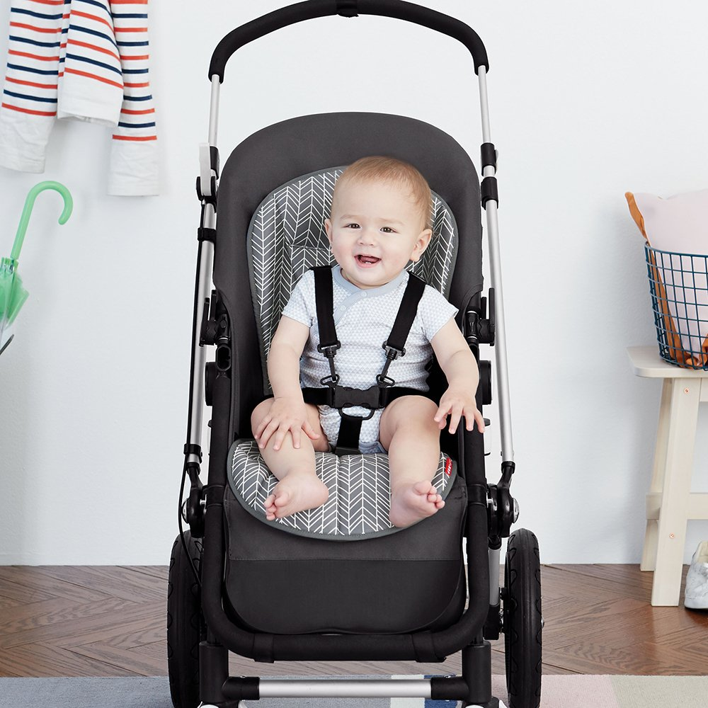 Skip Hop Stroll-and-Go Cool Touch Stroller Liner, Grey Feather by Skip Hop (Image #5)