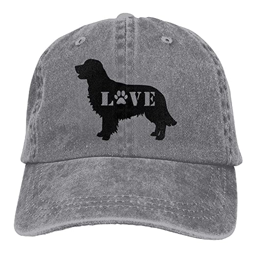 Golden Retriever Love Dog Paw-1 Unisex Personalize Denim Outdoor Sports Hat Adjustable Baseball Cap