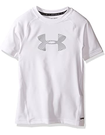 Under Armour Boys  HeatGear Armour Short Sleeve Fitted Shirt cb4c1326e2f3