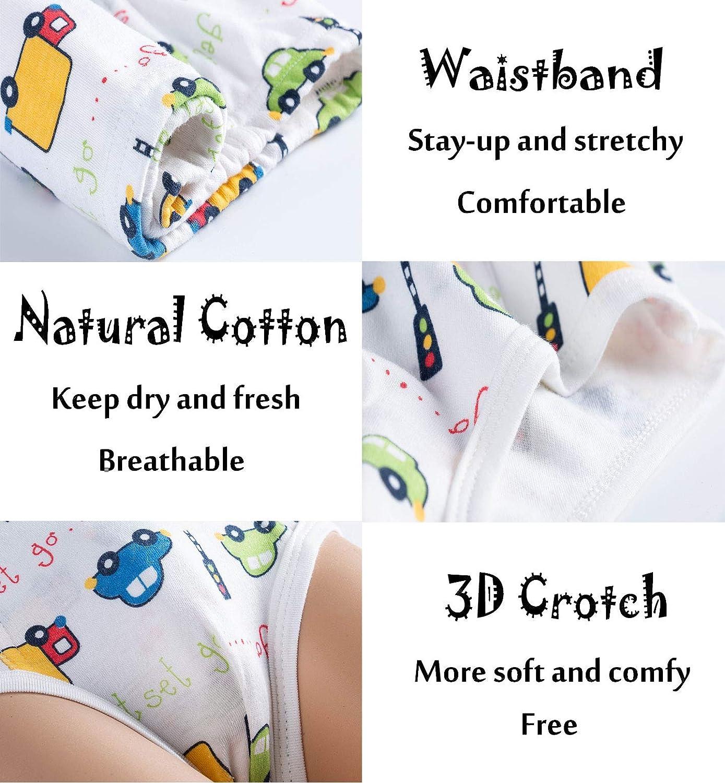 Growth Pal Little Boys Underwear Briefs Soft 100/% Cotton 6 Pack Kids Underwear Toddler Undies
