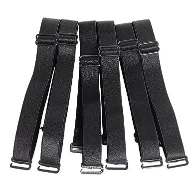 ecd4ce8fc429c Closecret Ladies Elastic Adjustable Removable Replacement Bra Shoulder  Straps 12mm 15mm Width Band (Pack of 3