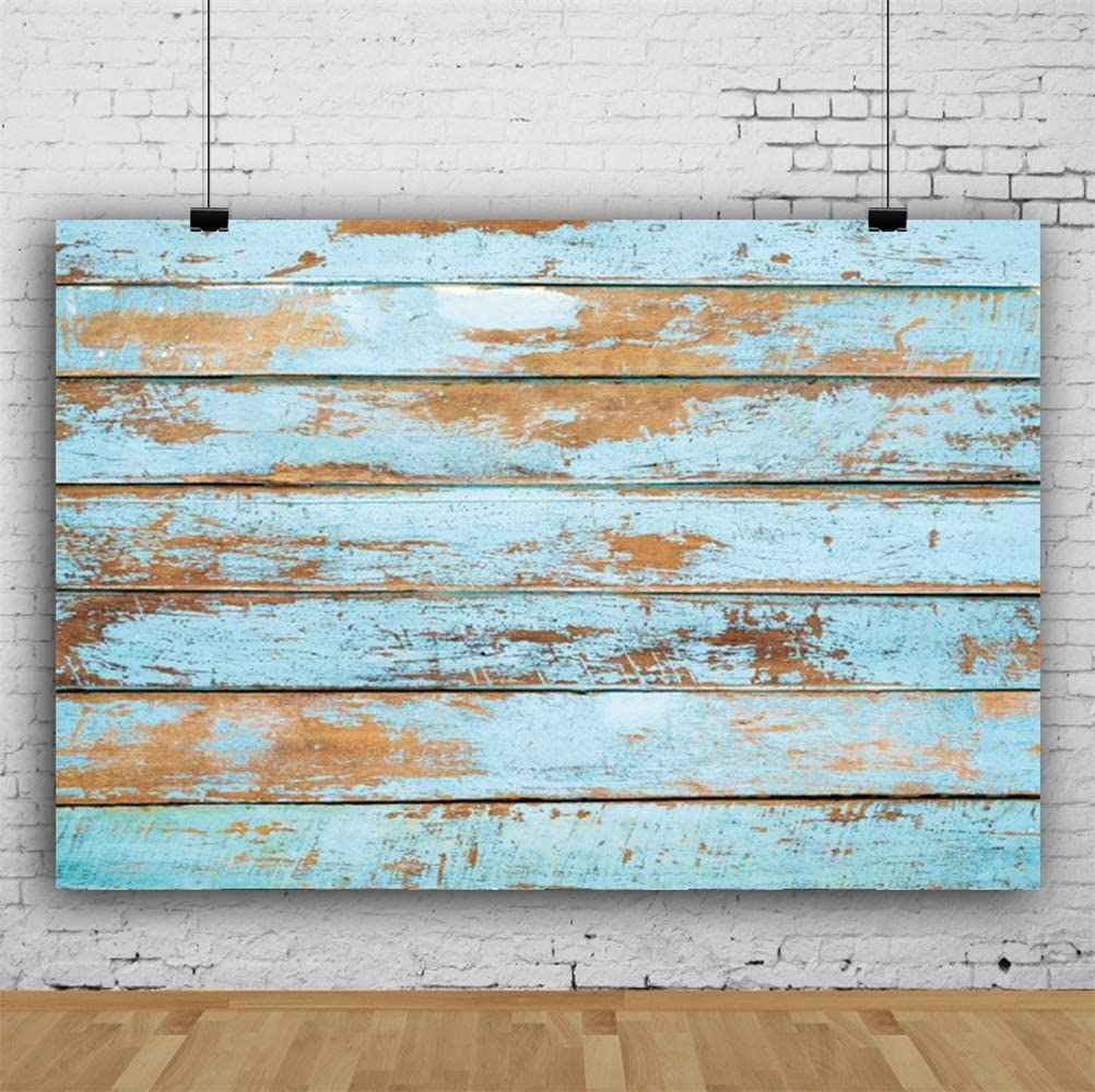 Polyester 10x6.5ft Grunge Faded Lateral-Cut Wood Texture Plank Photography Background Retro Mottled Wooden Board Backdrop Children Adult Pets Artistic Portrait Shoot Studio Props