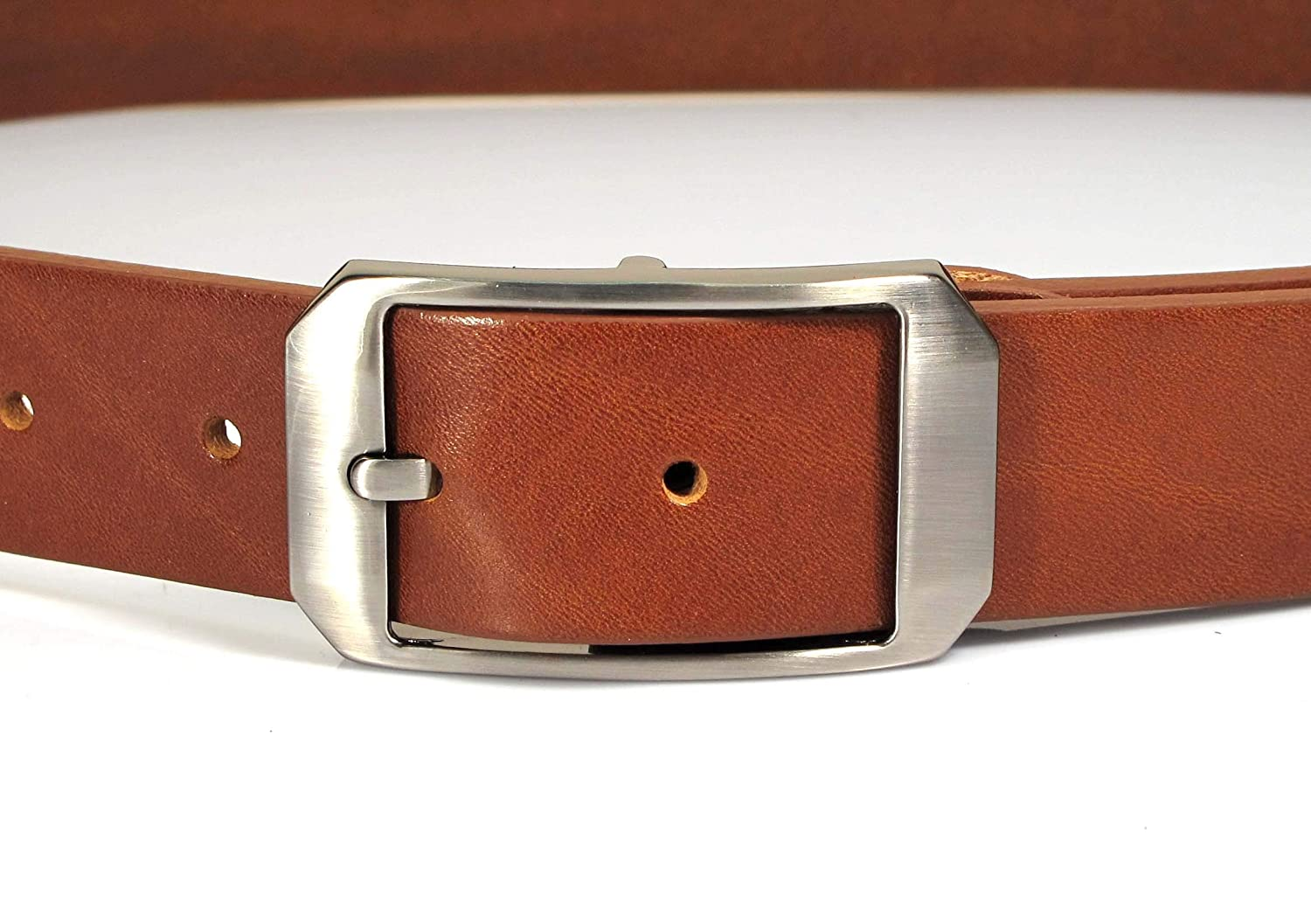 AF1 Womens Real Genuine Leather Belt Black Brown White 1.25 Wide S-L Casual Jeans