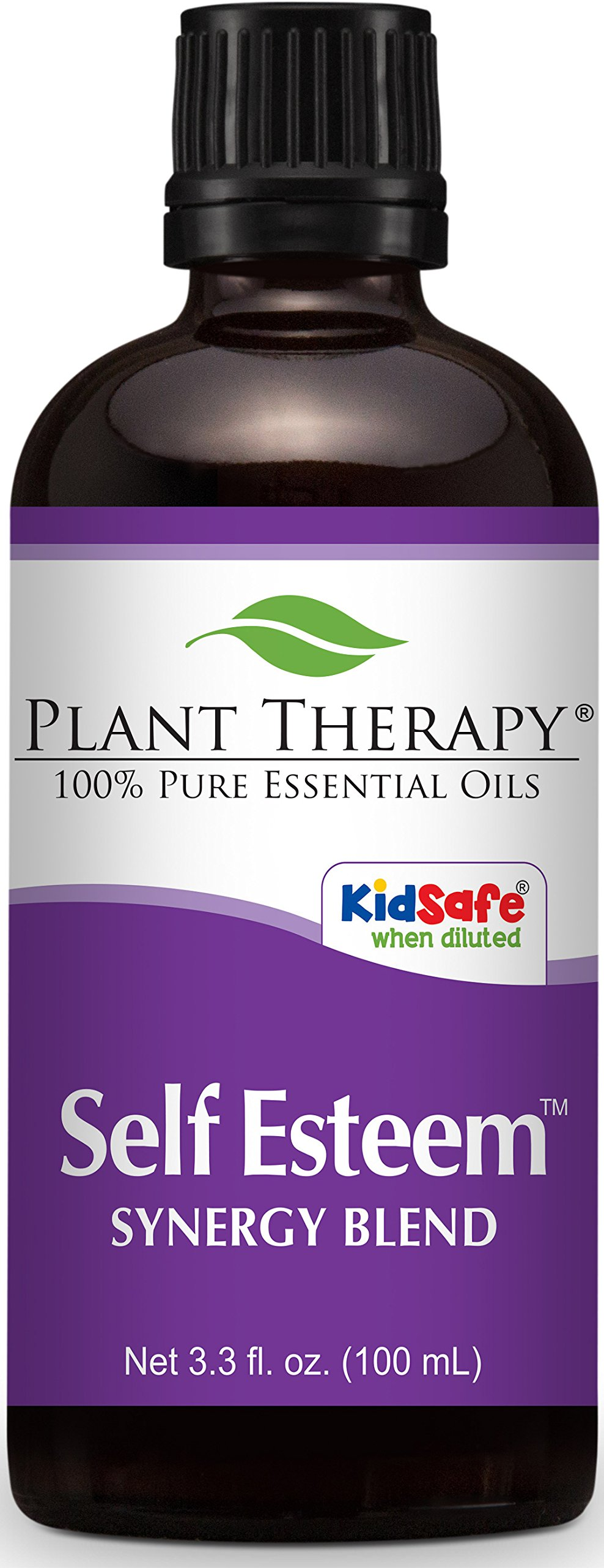 Plant Therapy Self Esteem Synergy Essential Oil Blend. 100% Pure, Undiluted, Therapeutic Grade. Blend of: Spruce, Rosewood, Blue Tansy & Frankincense. 100 mL (3.3 Ounce).