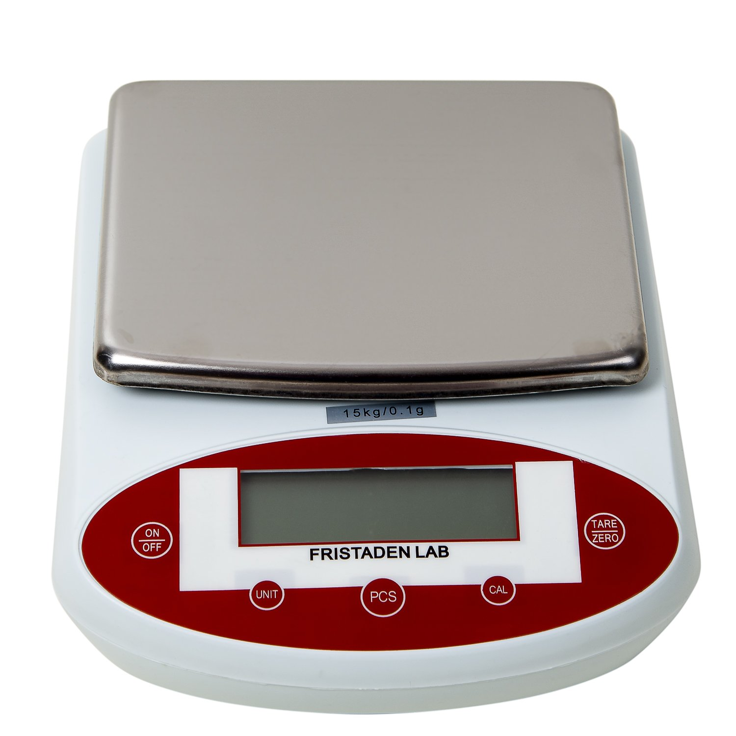 Fristaden Lab Digital Analytical Precision Balance, 15kg x 0.1g Weight Accuracy. The Self-Calibrating Precision Scale Measures in Grams, Ounces and Carats with LCD Display