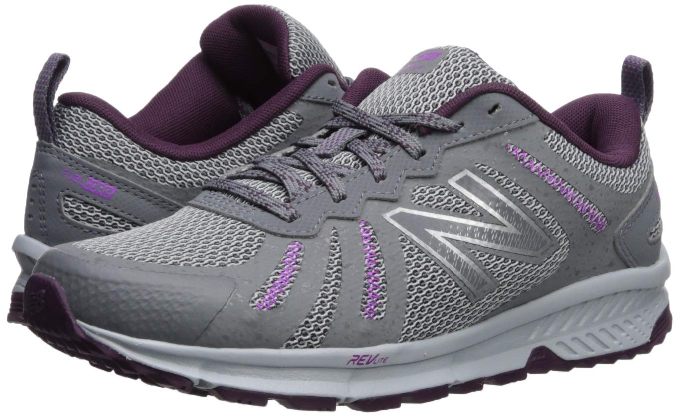 New Balance Women's 590v4 FuelCore Trail Running Shoe, Gunmetal/Dark Current/Voltage Violet, 5 B US by New Balance (Image #5)