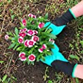 Garden Genie Gloves,Plaviya 1 Pair of Right Hand Claws Gardening Gloves Quick Easy to Dig & Plant Waterproof Puncture Resistant Laborer Safe for Rose Pruning