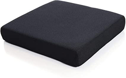 Buy JY Orthopedic Memory Foam High Resilience Indoor Chair Square Cushion Seat Pads for Office, Car, Home, Floor Helps in Back Pain Relief, Provides Support & Comfort in Jutt Fabric Brown (18