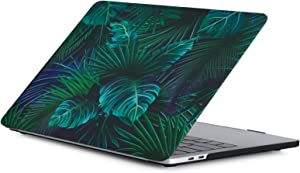 MacBook Pro 13 inch Case 2020/2019/2018/2017/2016 Model A2251/A2289/A2159/A1989/A1706/A1708, iZi Way Broad Leaf Plastic Hard Case Shell Cover for Mac Pro 13 Retina with/without Touch Bar - Palm Leaves