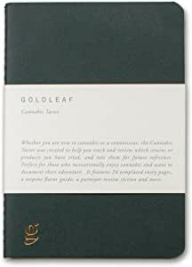 Goldleaf Cannabis Taster: A Recreational Tasting Journal for Cannabis Enthusiasts, Marijuana Tasting Logbook, Weed Tourist Notebook, Guided Pages and Infographics, A6 Size