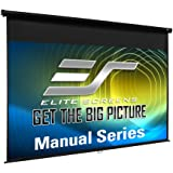 Elite Screens Manual Series, 80-INCH Pull Down Manual Projector Screen with AUTO LOCK, Movie Home Theater 8K / 4K Ultra HD 3D