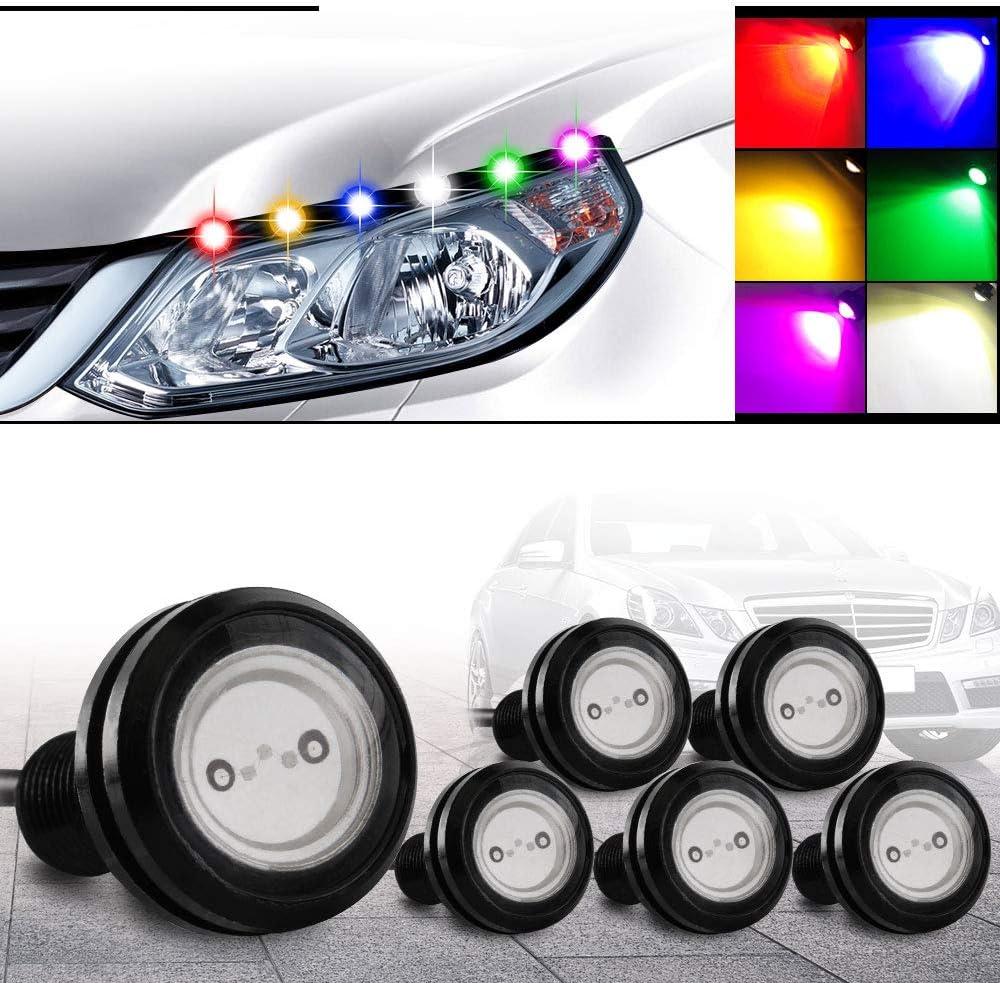 12V Ultra Bright LED Light Eagle Eye Lamp Daylight Running Car Lights COB Blue