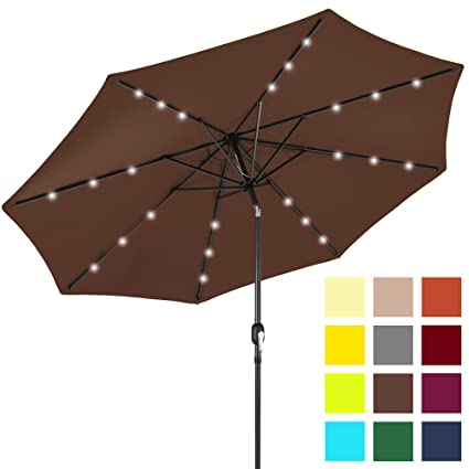 Amazon Com Best Choice Products 10ft Solar Led Lighted Patio