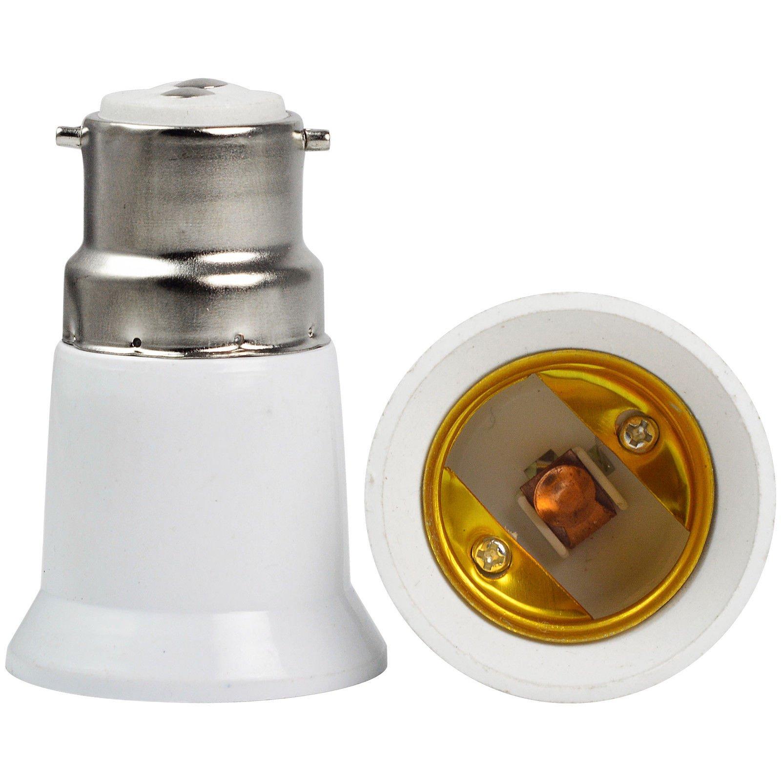 Kasstino Bayonet BC B22 to ES E27 Screw Light Bulb Adaptor Lamp Fitting Converter Holder