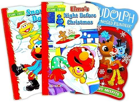 Sesame Street Elmo - Juego de 3 Libros de Mesa para niños: Amazon ...