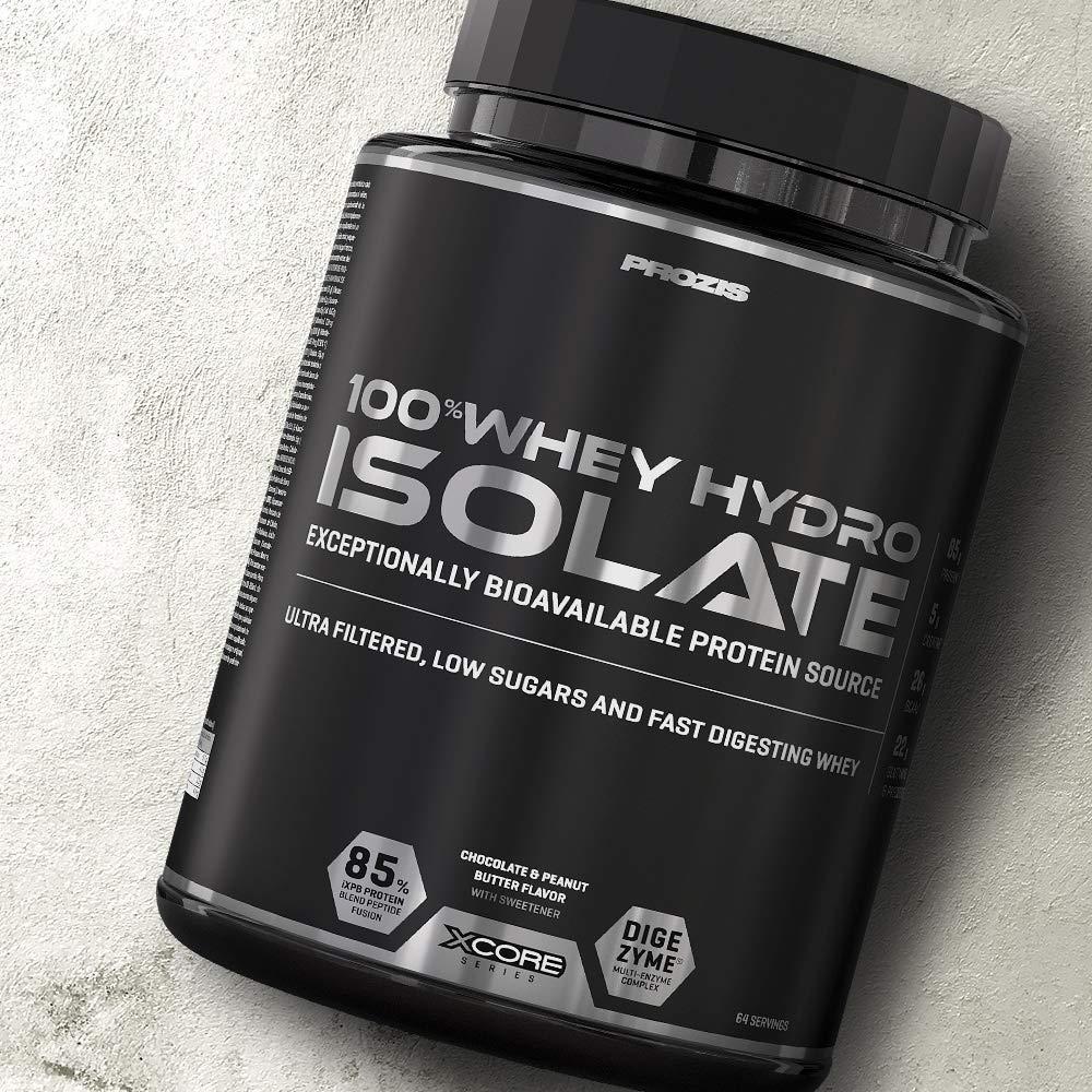 Prozis 100% Whey Hydro Isolate SS para la Quema De Grasas, la Recuperación Muscular y la Musculación, Fácil de Digerir y Bajo en Carbohidratos, ...