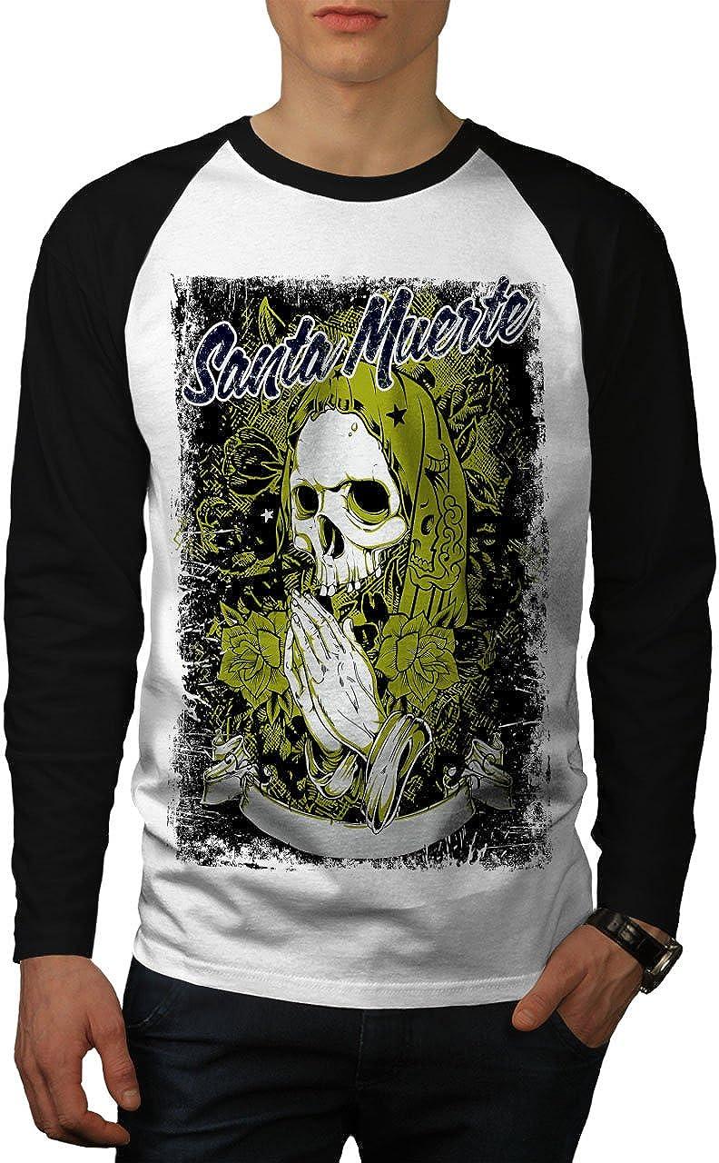 wellcoda Santa Muerte Mens Sweatshirt Skeleton Sign Casual Jumper