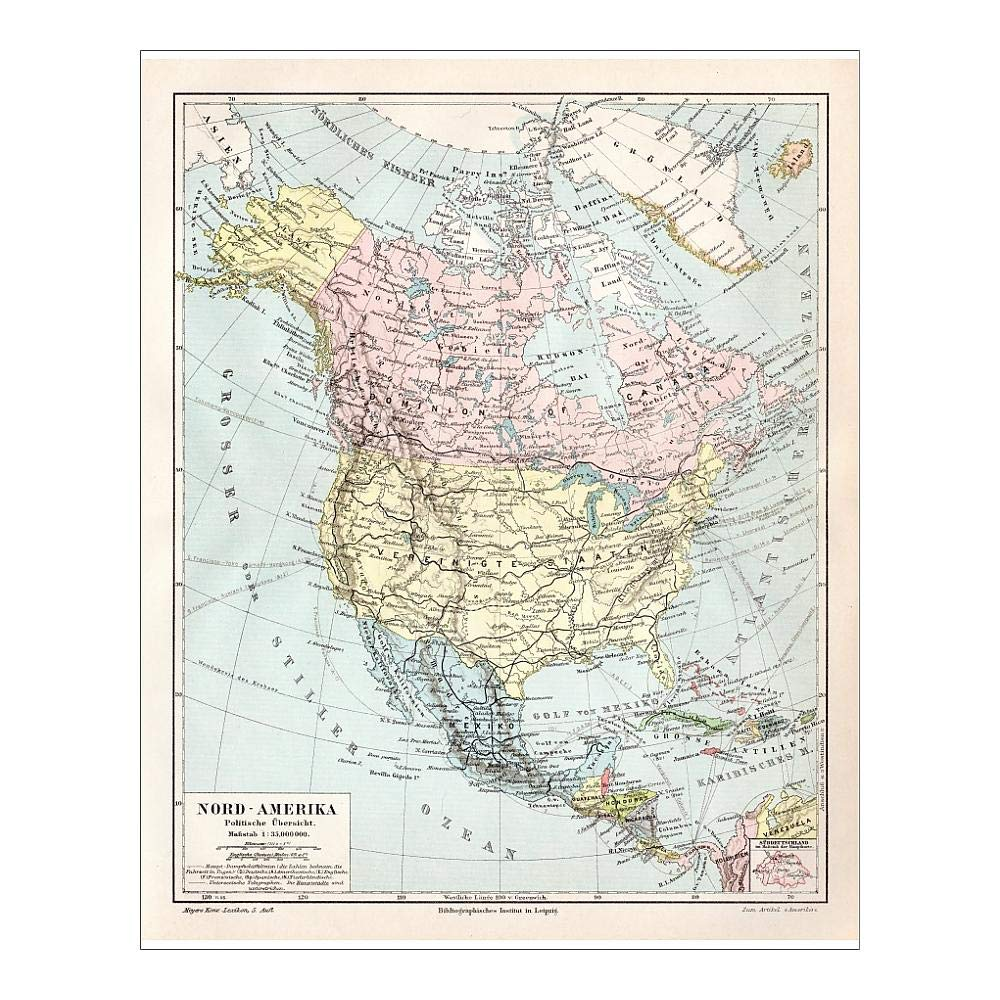Amazon.com: Media Storehouse Framed 24x18 Print of North ...