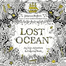 Lost Ocean: An Inky Adventure and Coloring Book for Adults