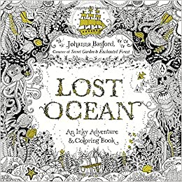 amazoncom lost ocean an inky adventure and coloring book for adults 9780143108993 johanna basford books - Ocean Coloring Book