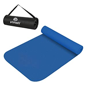 VIFITKIT® Yoga Mat Anti Skid EVA Yoga mat with Bag for Gym Workout and Flooring Exercise Long Size Yoga Mat for Men and Women (Make in India)