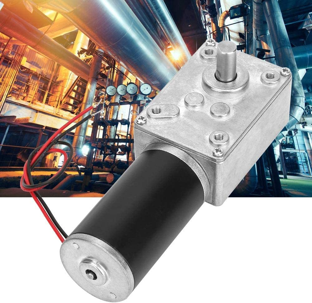 200RPM Yadianna Speeds Reduction Motor,High Torsion Speeds Reduce Electric Gearbox Motor Reversible Worm Gear Metal Motor Reducer with 8mm Shaft 24V
