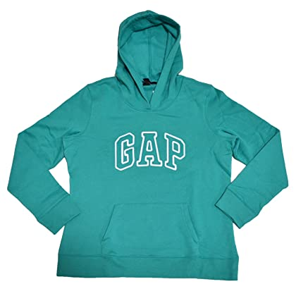 20d83bac6df GAP Womens Fleece Arch Logo Pullover Hoodie (Large
