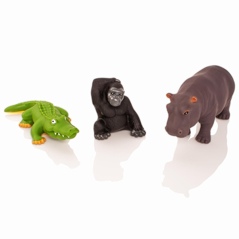 Learning Minds Set of 8 Jumbo Jungle Animal Figures 18 Months