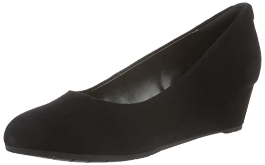Clarks Vendra Bloom - Black Suede Womens Heels 5.5 US