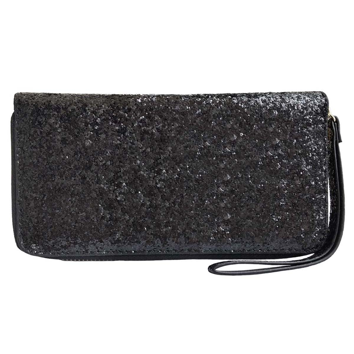 Women Wristlet Wallet - Sequined Clutch Bag with Zipper Closure - Black, by Beaulegan by BEAULEGAN (Image #1)
