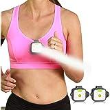 Running Light, HOKOILN 2Pack Reflective Running Gear for Runners, USB Rechargeable LED Light, Clip On Running Lights…