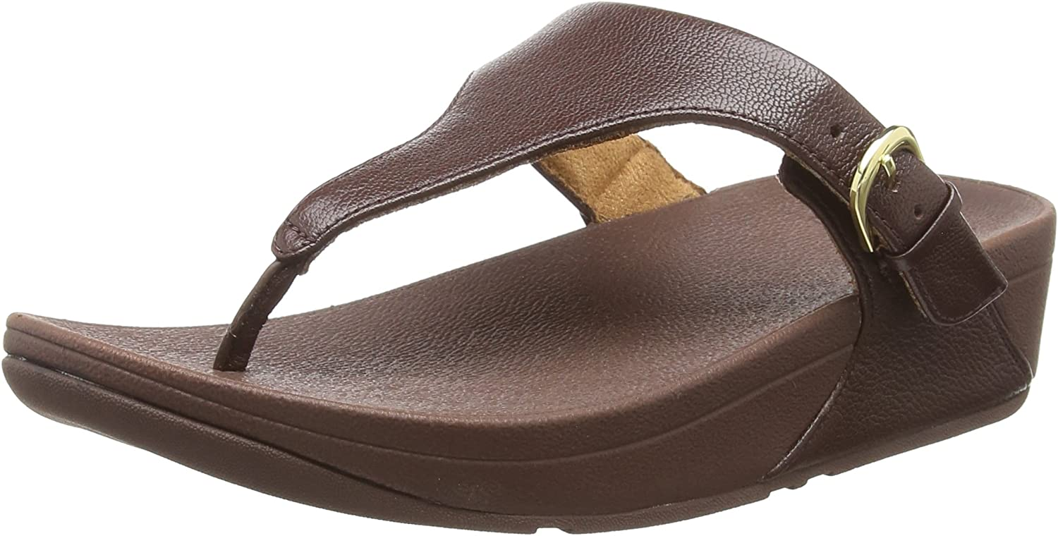 Fitflop Skinny Toe Thong Sandals Leather, Bout Ouvert Femme