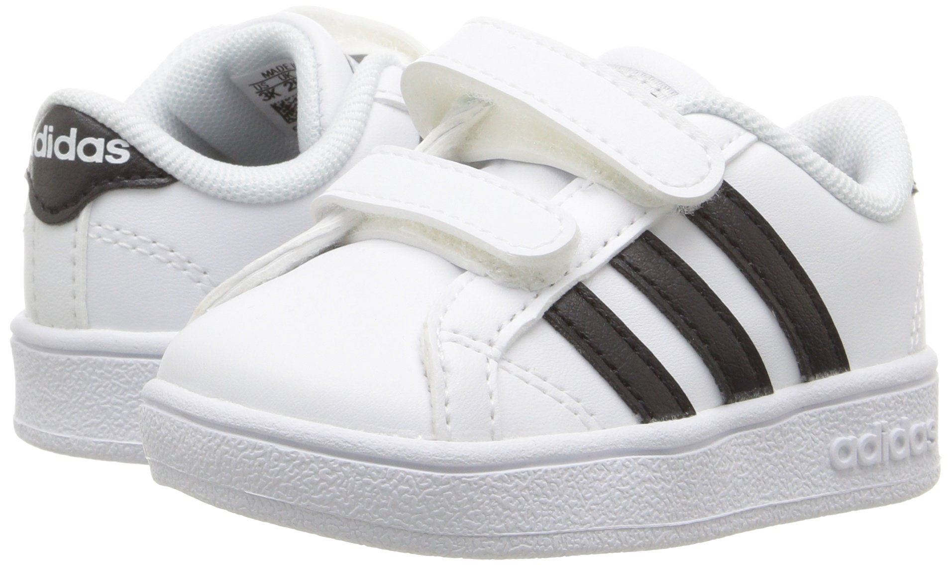 adidas Performance Baby Baseline Sneaker, White/Black/White, 6.5K M US Toddler by adidas (Image #6)