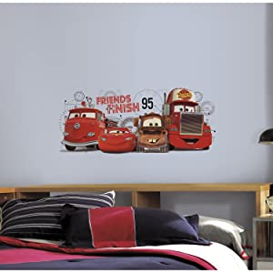 RoomMates Disney Pixar Cars 2 Friends To The Finish Peel And Stick Giant Wall Decals