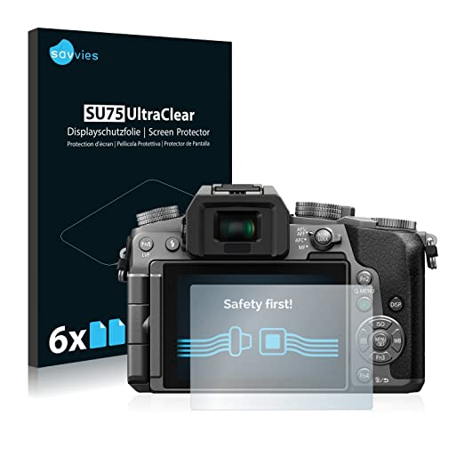 2 opinioni per [6 Pack] Savvies Pellicola Protettiva per Panasonic Lumix DMC-G7 Protezione