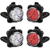 Horn USB Rechargeable Bicycle Headlight Front Rear Tail LED Head Light Cycling
