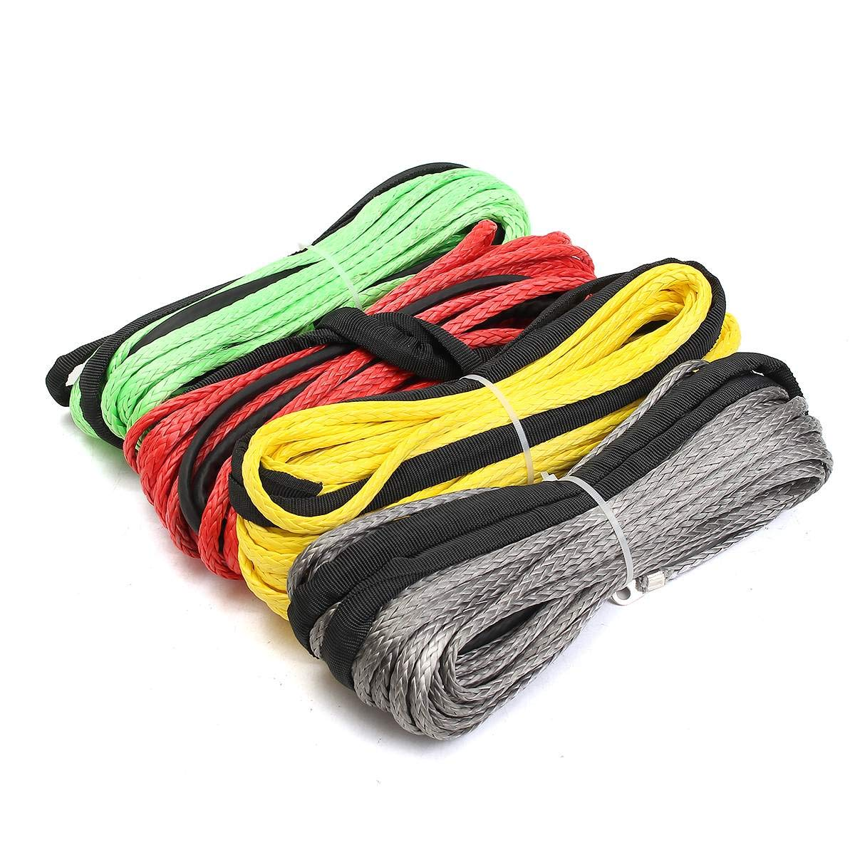 OscenLife Best Price 3//16 x 50 Synthetic Fiber Winch Line Cable Rope 5500 Sheath for ATV UTV 5.5mm15m Synthetic LBs