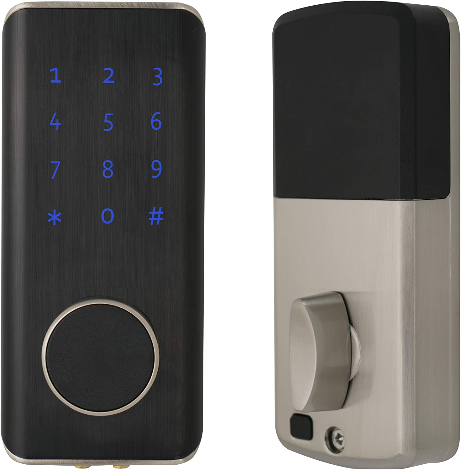 Bluetooth Smart Lock, Security Digital Keyless Entry Door Lock with Keypad Easy to Use Electronic Deadbolt Lock, IP6 Waterproof, Low Battery Reminder