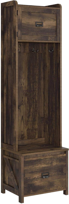Ameriwood Home Farmington Entryway Storage Cabinet, Rustic