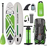 "Murtisol Pro 10.5'33""6"" Inflatable Paddle Board Stand Up Paddle Board with Premium Accessories Dual Chamber Triple Action Pump 10L Waterproof Bag Adjustable Paddle Ankle Leash Multifunction Bag"