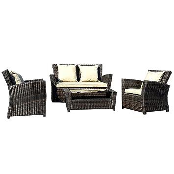 Fantastisch Gartenmöbel Rattan Lounge Set Polyrattan Sitzgruppe Rattanmöbel Garnitur  Garten