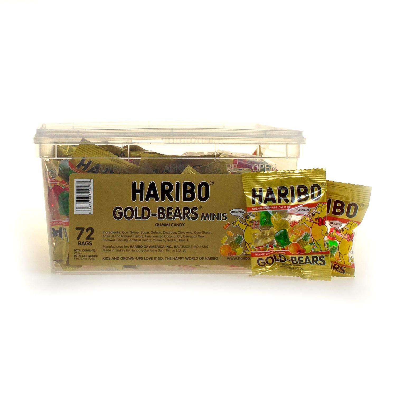 Haribo Goldbears Minis, 72-Count, 1 Pound 9.4 oz Original Bears in mini bags by Haribo