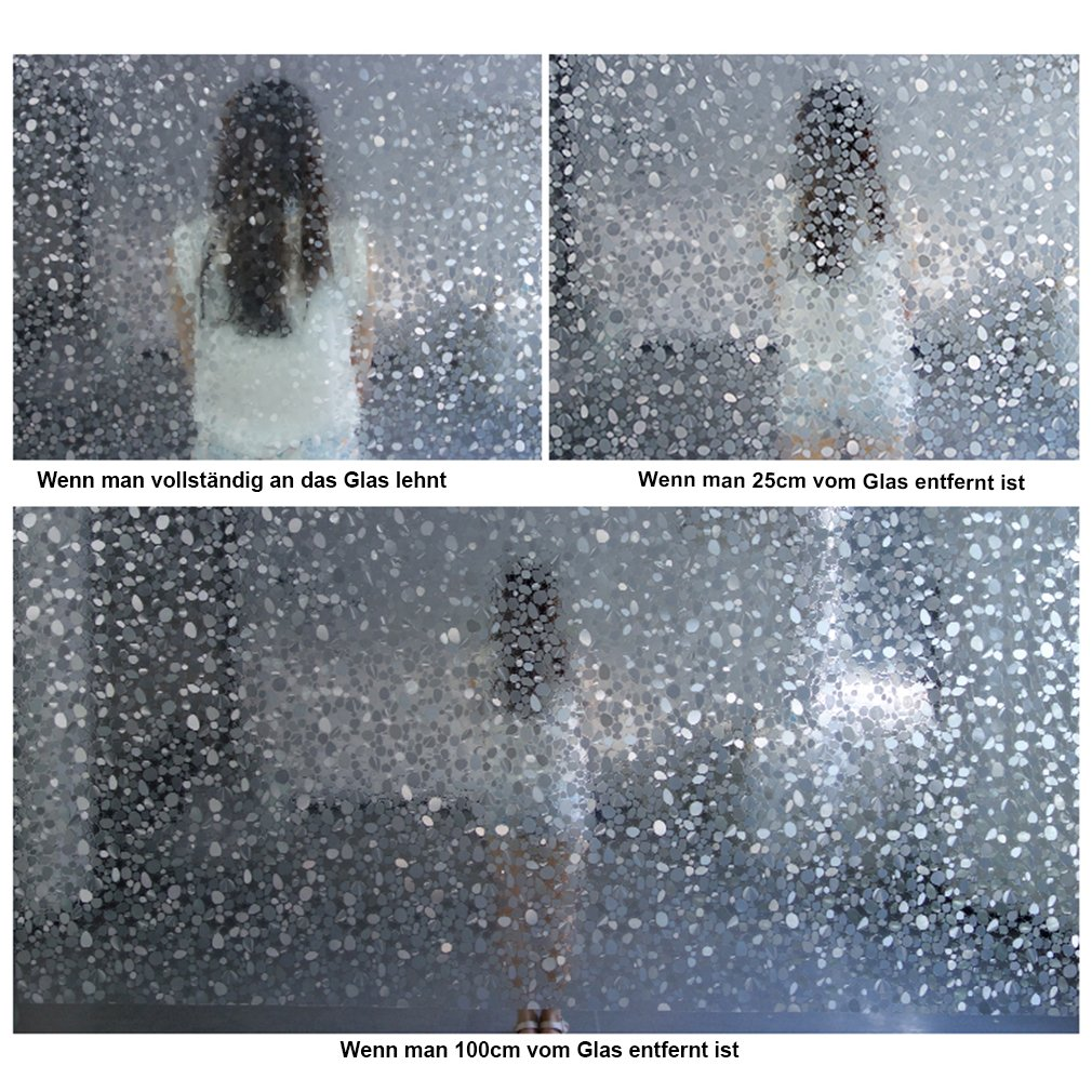 KINLO 8 Stücker Fensterfolie selbstklebend 90x200cm folie für