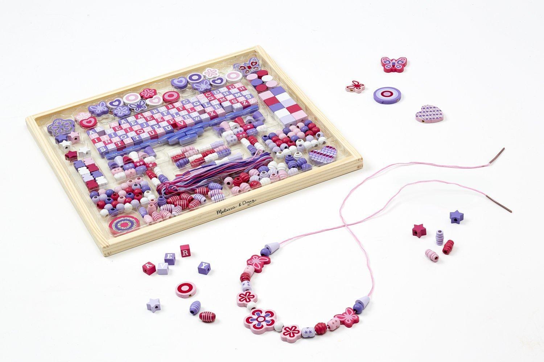 + FREE Melissa /& Doug Scratch Art Mini-Pad Bundle 340+ beads Deluxe Collection Wooden Bead Set 94931